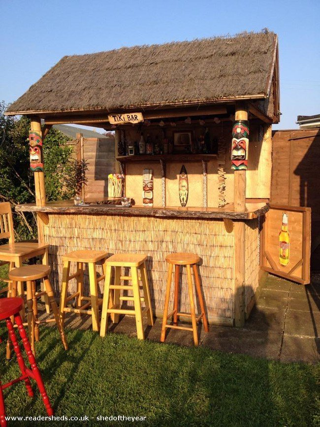 10 Awesome Backyard Bars That Will Inspire You To Build ... on Tiki Bar Designs For Backyard id=27182