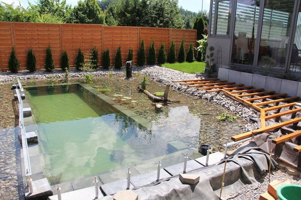 This guy 39 s ambitious project for his backyard actually for Making a pond in your backyard