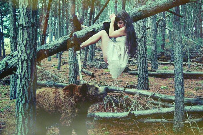 bear girl tree