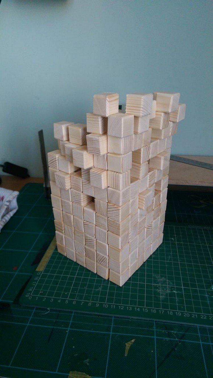 blocks being built
