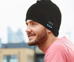 bluetooth beanie hat black