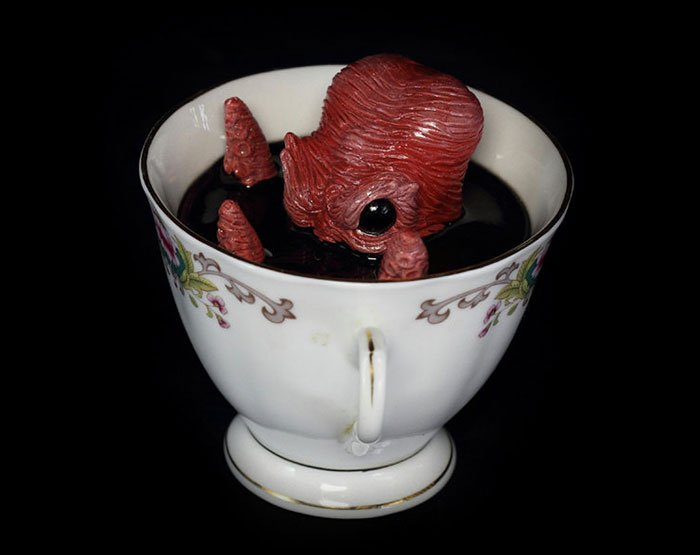 brown creature cup