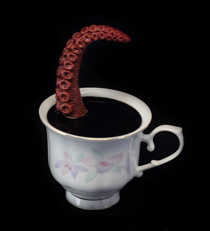 brown tentacle cup