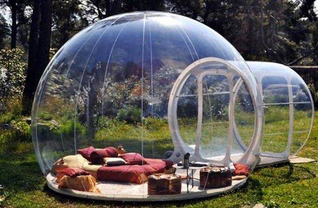 bubble hotel grass