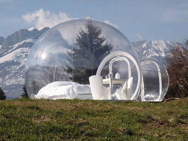 bubble hotel snow