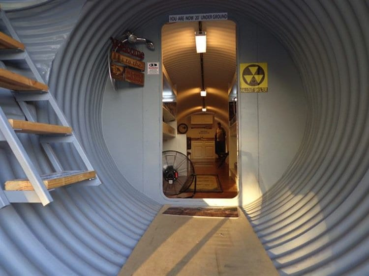 This secret underground bunker home for millionaires is for Hidden storm shelter