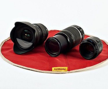 burrito camera lens wrap red