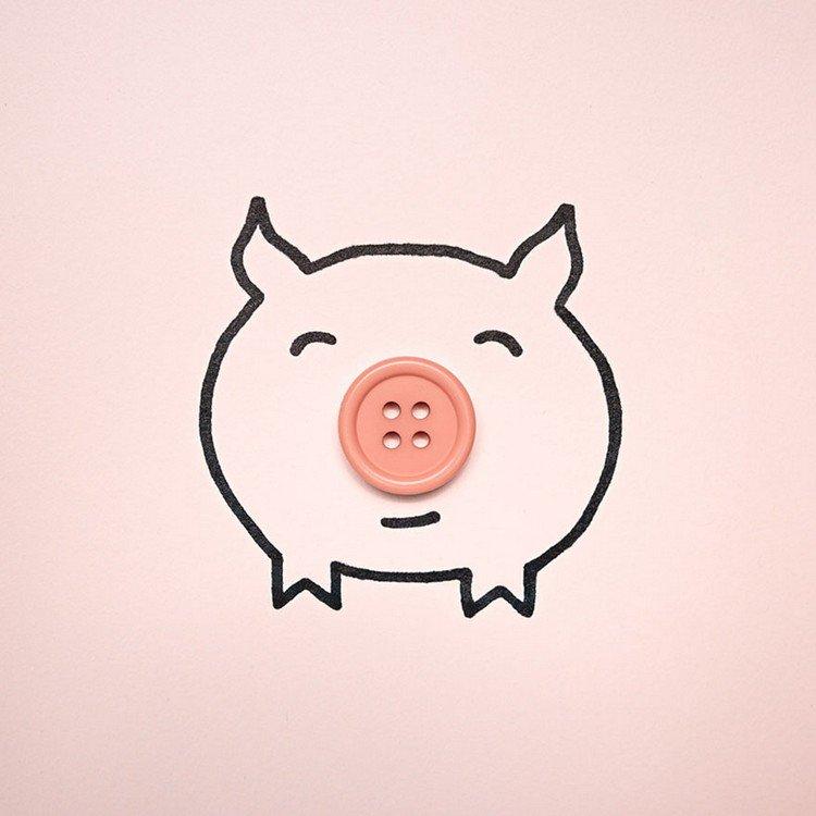 button pig