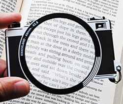 camera magnifier bookmark