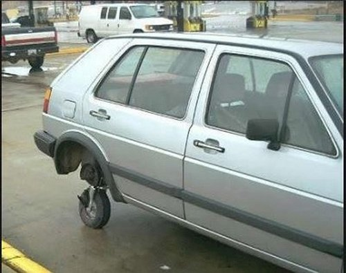 car-with little wheel