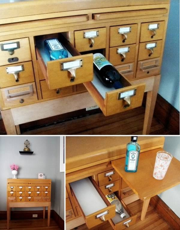 card catalog bar