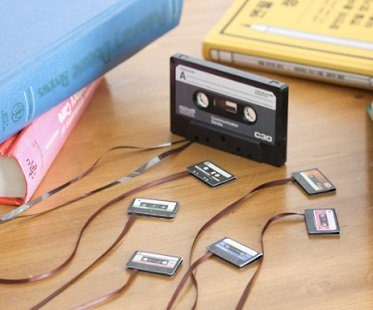 cassette tape bookmarks