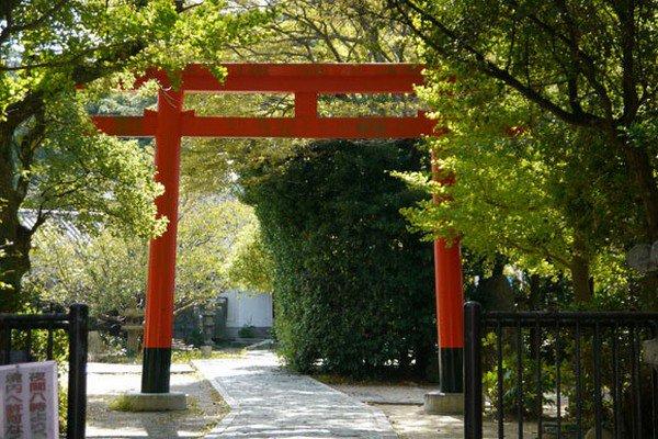 close up entrance shrine