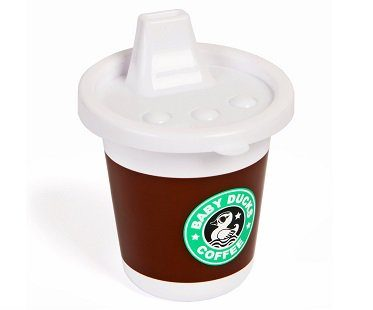 coffee style sippy cup baby ducks