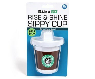 coffee style sippy cup pack