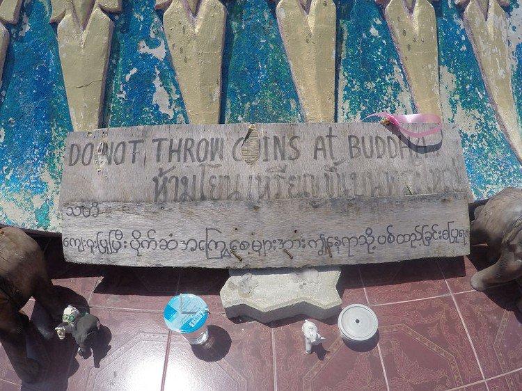 coins buddha