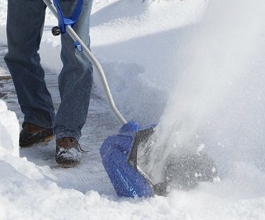 cordless snow shovel blue