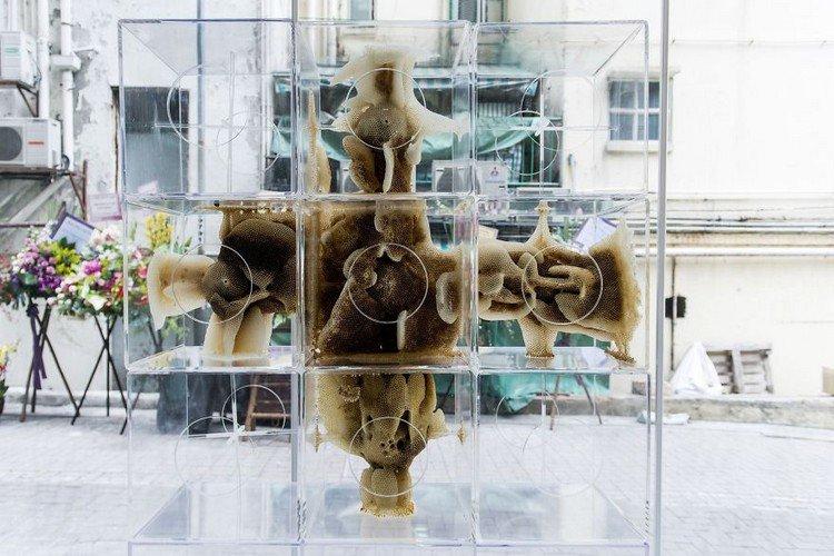 cross bee sculpture