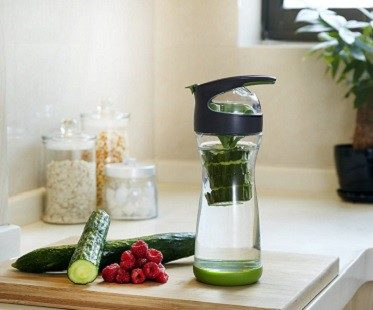cucumber infused water bottle