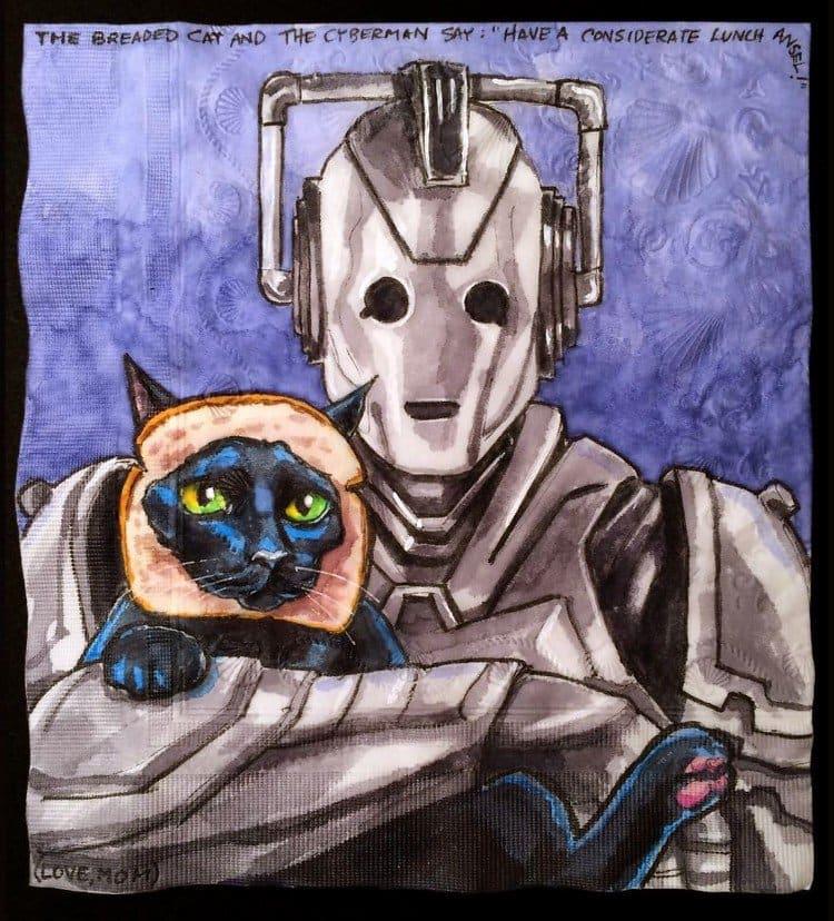 cyberman breaded cat