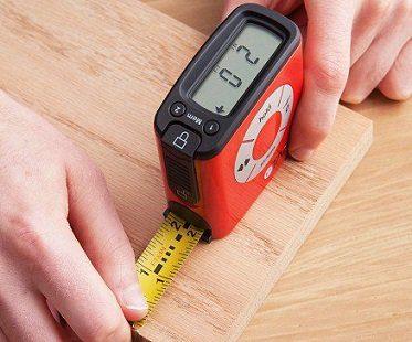 digital tape measure red