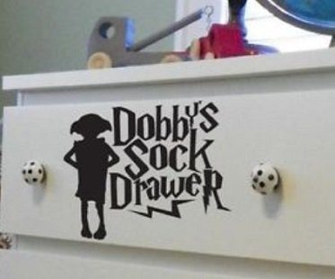 dobbys sock drawer decal