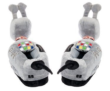 doctor who k9 slippers back