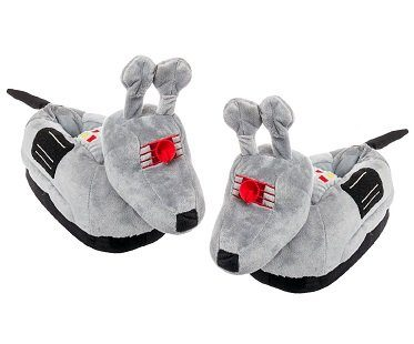 doctor who k9 slippers grey
