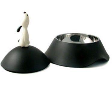 dog bowl with lid black