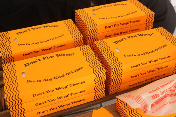 dont you weep tissues boxes