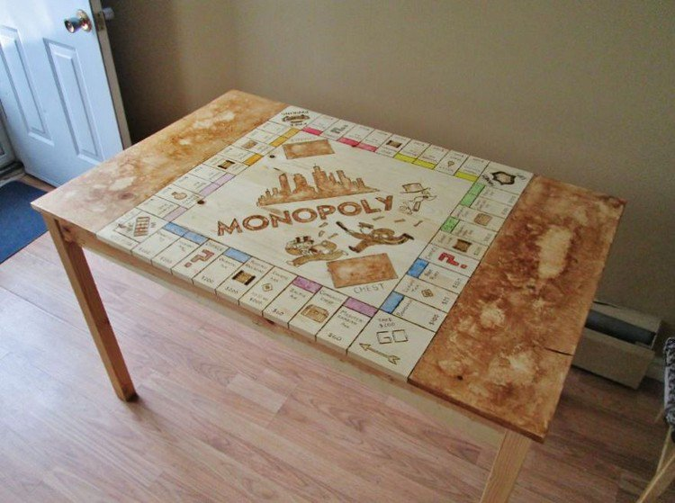 finished monopoly board