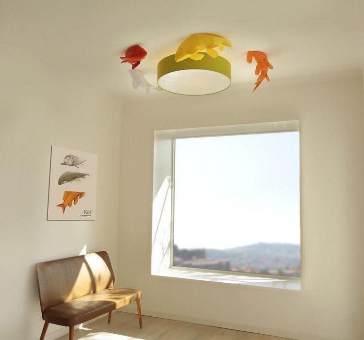 fish lampshade window