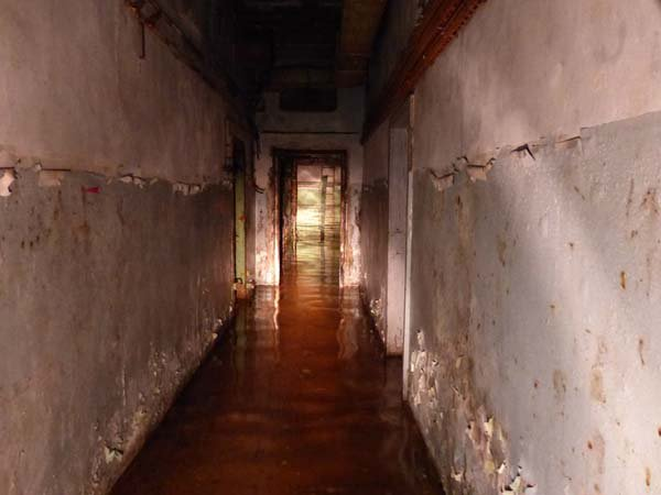 flooded corridor