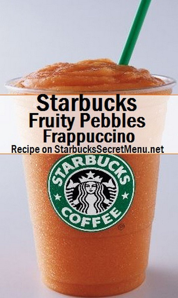 fruity pebbles frappuccino