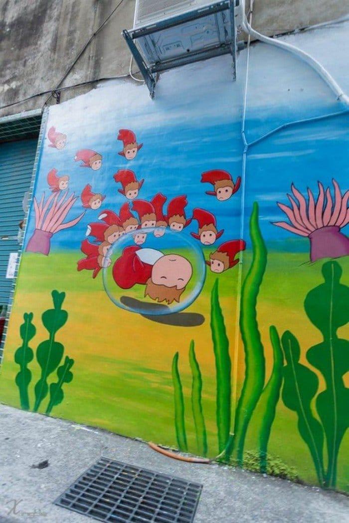 ghibli mural