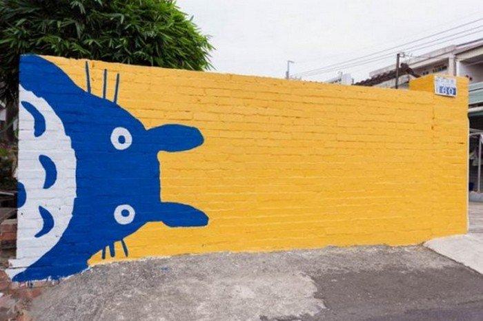 ghibli totoro mural
