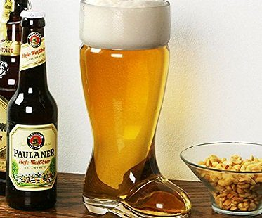 giant boot beer glass