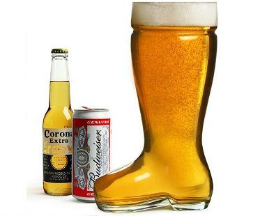 giant boot beer glass bottle