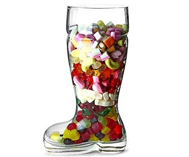 giant boot beer glass bottle sweets