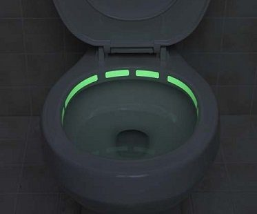 glow in the dark toilet decals