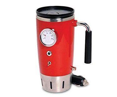 heated travel mug red car