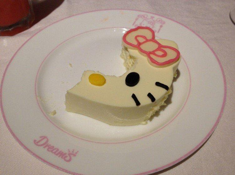 hello kitty half eaten cake