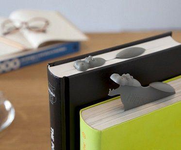 hippo bookmark grey