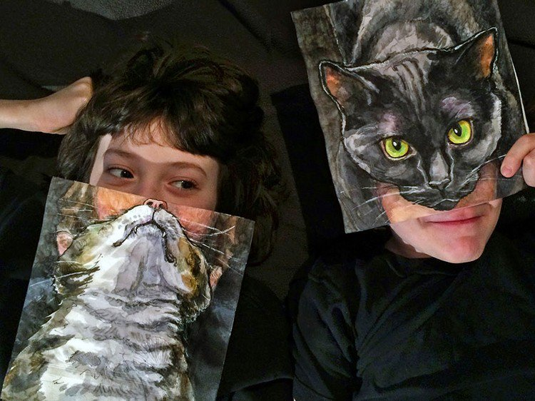 kids cat pictures
