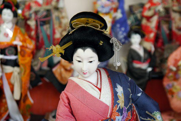 kimono doll close up