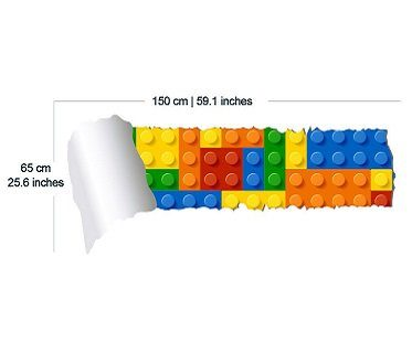 lego and torn wallpaper decal dimensions