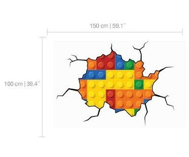 lego wall decal dimensions