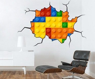 lego wall decal office
