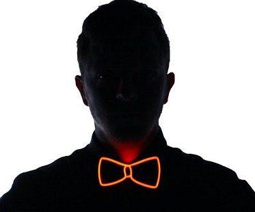 light up bow tie orange