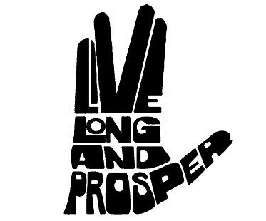 live long and prosper decal hand